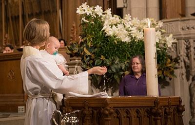 A baptism at the Chapel
