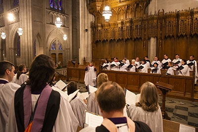 Choral Evensong worship service