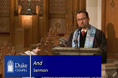Dean Luke A. Powery Preaching