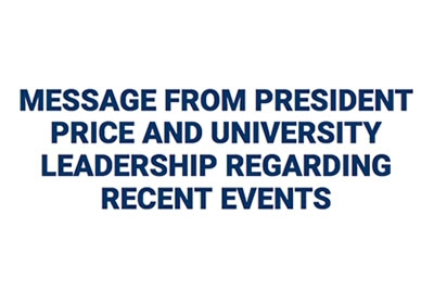 University Leadership Message